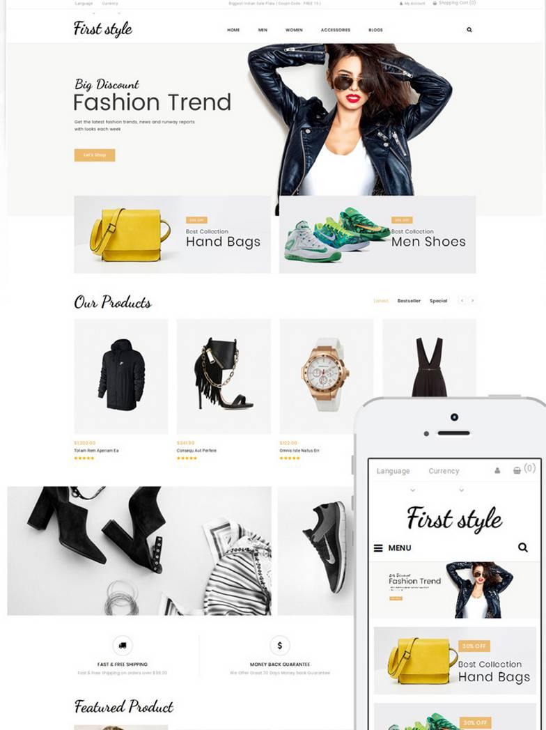 First Style: szablon OC dla sklepów modowych