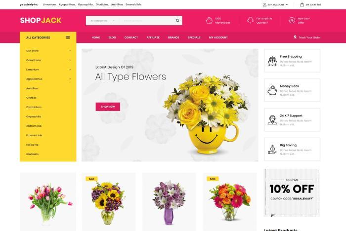 szablon sklepu internetowego kwiaciarnia